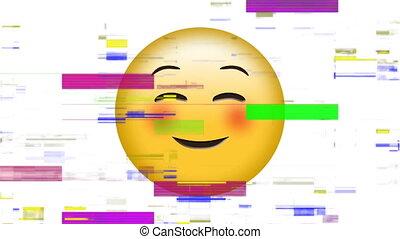figure, emoji, yeux, sourire