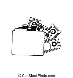 figure file with money icon