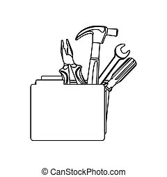 figure file with tools icon