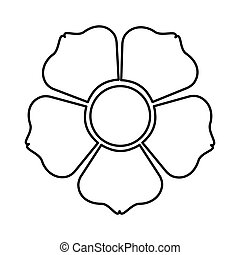 figure flower with squre petals icon - figure flower with ...