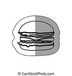 figure hamburger fast food icon