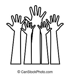 figure hands up icon