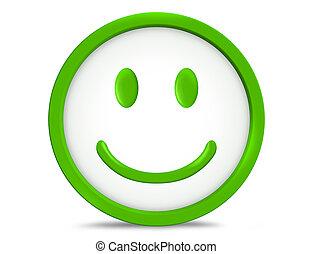 figure, heureux, smiley, sourire