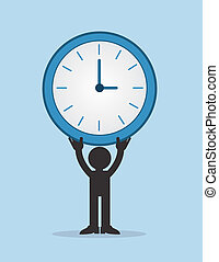 Figure Holding Large Clock