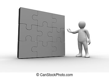 figure humaine, résolu, projection, j, blanc