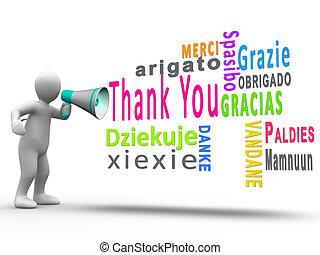 figure humaine, remercier, blanc, révéler, vous, langues, différent