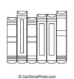 Figure interenting knowledge books icon