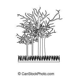 figure leafless trees icon, vector illustraction design ...