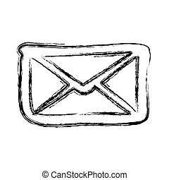 figure letter message icon