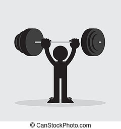Figure Lifting Weights