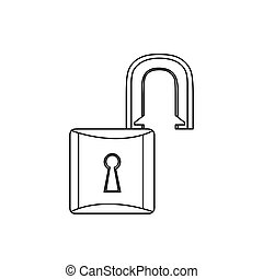 figure lock open icon image, vector illustration design