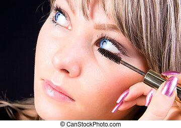 figure, maquillage