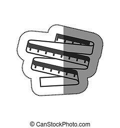 figure measuring tape icon