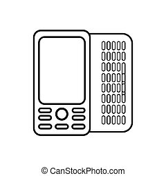 figure mobile phone related icon