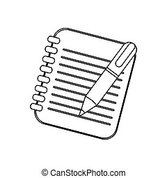 figure notebook with pen icon