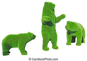 figure of a bear made from decorative grass