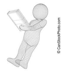 man with a folder