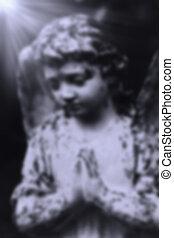 Figure Of Angel with bokeh