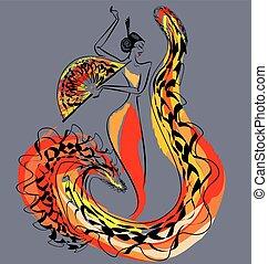 figure of flamenco dancer