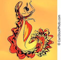 figure of flamenco dancer girl