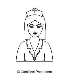 figure people nurce icon image