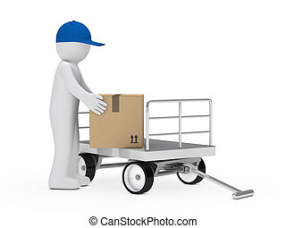 figure pick up package - figure pick up a package from...