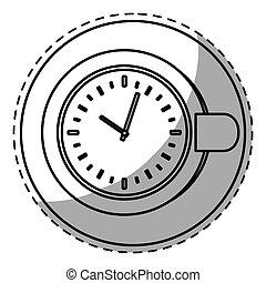 Figure plate with a chocolate clock inside