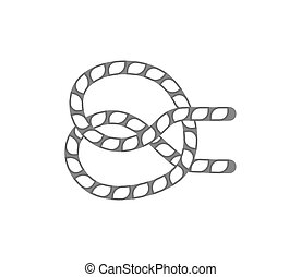 Figure rope knot isolated vector icon
