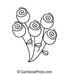 figure round roses icon