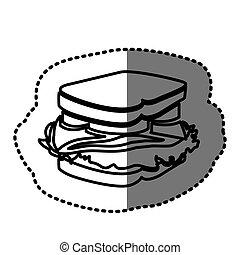 figure sandwich fast food icon