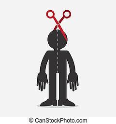 Figure Scissors Half