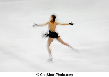 figure skater on a white background