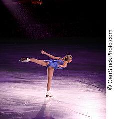Figure skater - Professional woman figure skater performing ...