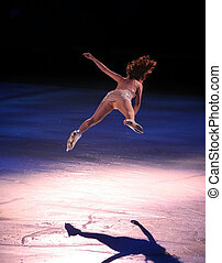 Figure skater - Professional woman figure skater performing...