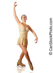 Figure Skater - Young adult figure skater. Studio shot over ...