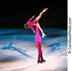 Figure skaters - Professional figure skaters performing at...