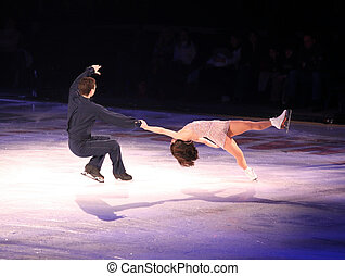 Figure skaters - Professional man and woman figure skaters...
