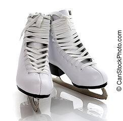 figure white skates isolated on white background