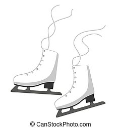 Figure skates. Isolated vector image on a white background. Clipart