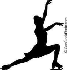 Figure skating - Abstract vector illustration of figure ...