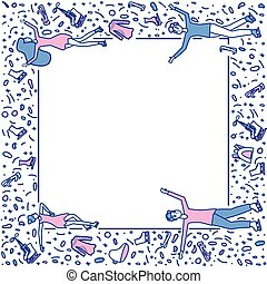 Figure skating concept. Vector illustration.