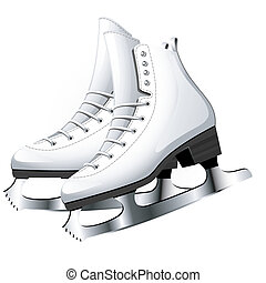 Figure Skating over white. EPS 8, AI, JPEG
