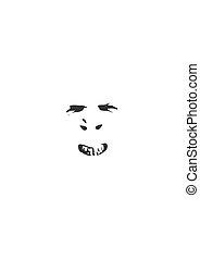 figure, smirking, silhouette