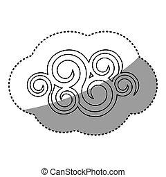 figure spiral cloud icon