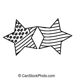 figure stars with stars and stripes icon