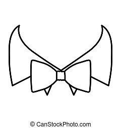 figure sticker bow tie with shirt icon