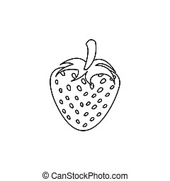 figure strawberry fruit icon stock