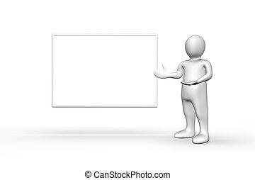 figure, suivant, debout, blanc, illustré, copyspace