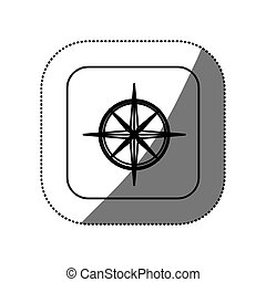 figure symbol compass icon