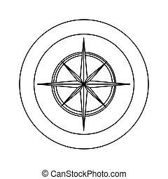 figure symbol compass star icon